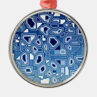 TRANSHUMANISM-abstraktmönster Nº3 Julgransprydnad Metall
