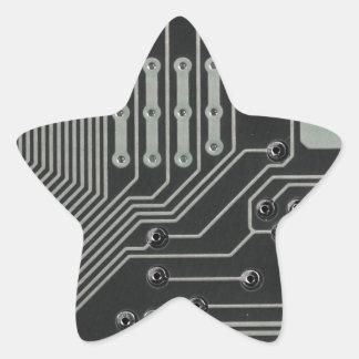 TRANSHUMANIST-abstraktmönster Nº4 Stjärnformat Klistermärke