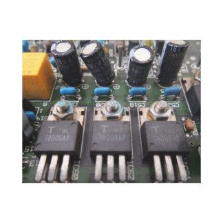 Transistorn går runt kanvastrycket canvastryck