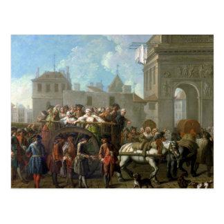 Transport av skökor vykort