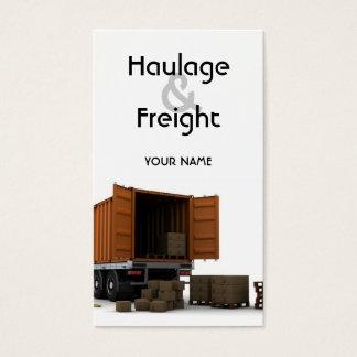 Transport- & fraktvisitkort visitkort