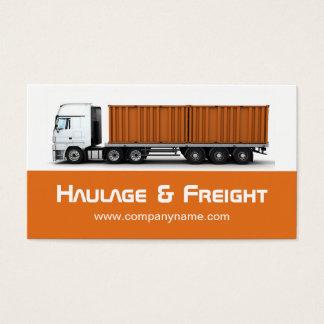 Transport- och fraktvisitkort visitkort