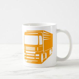 Transport- och logistiklastbillogotypmugg kaffemugg