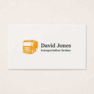 Transport- och logistiklogotypvisitkort visitkort