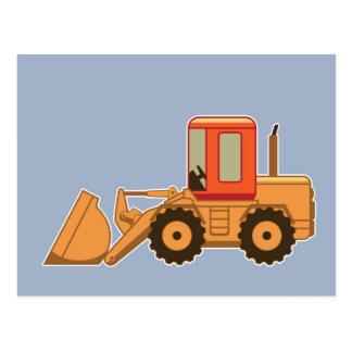 Transport orange Payloader - blått Vykort