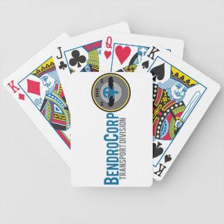 Transportuppdelning som leker kort spelkort