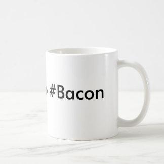 Trappa till #Bacon Vit Mugg