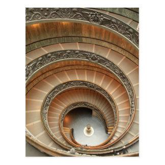 Trappuppgång i det Vatican museet Vykort