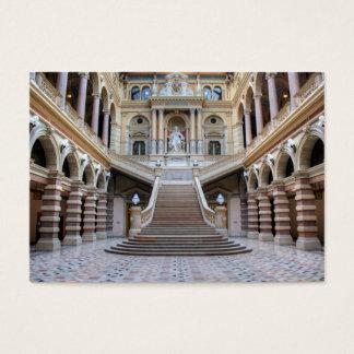 Trappuppgång i Justizpalast, Wien Österrike Visitkort