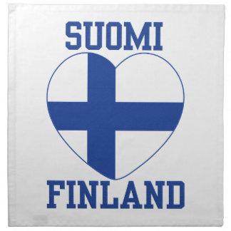 Trasaservetter för SUOMI FINLAND Tygservett