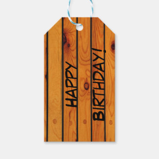Träshipdeck för födelsedagklassikerbrunt presentetikett