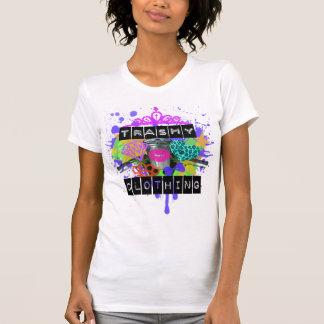 Trashy bekläda flickav-snitt t shirt