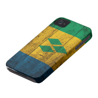 TräSt. Vincent & granatäppelsaftflagga iPhone 4 Case-Mate Skydd