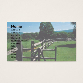 Trästaket, Vermont, USA Visitkort