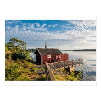 Trästuga på den Östersjön kusten i sverige Vykort