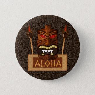 TräTiki maskerar Retro ALOHA hawaiibo för vintage Standard Knapp Rund 5.7 Cm