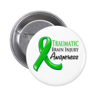 Traumatiskt band för medvetenhet för hjärnskada knapp