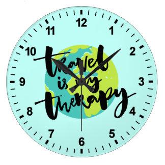 Travel är min terapi stor klocka