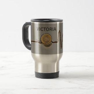Travel mug för hjärtslag för personligkaffekoffein resemugg
