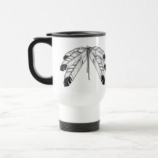 Travel mug för konst för första nationgåvor rostfritt stål resemugg