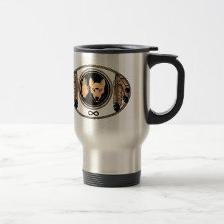 Travel mug för konst för första nationmuggvarg rostfritt stål resemugg