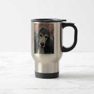 """Travel mug för konst för standard """"pudel för resemugg"""