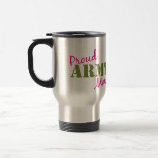 """Travel mug """"för stolt armémamma"""" resemugg"""