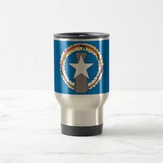 Travel mug med flagga av Northern Mariana Islands Rostfritt Stål Resemugg