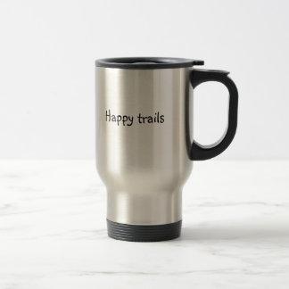 """travel mug med logotypen """"lycklig skuggar """", resemugg"""