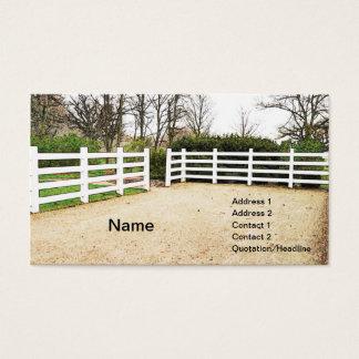 trävit postar och rail staket visitkort