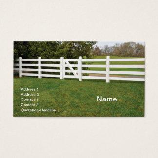 trävit postar staket och utfärda utegångsförbud visitkort