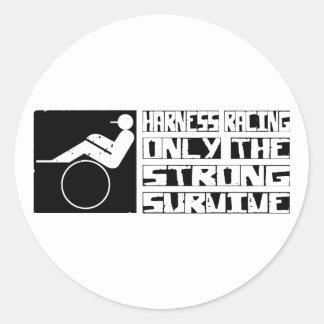 Travsport överlever runt klistermärke
