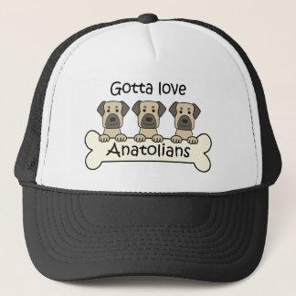 Tre Anatolian shepherds Truckerkeps