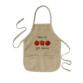 Tre äpplen Time som får näsvisa förklädeungar Barnförkläde