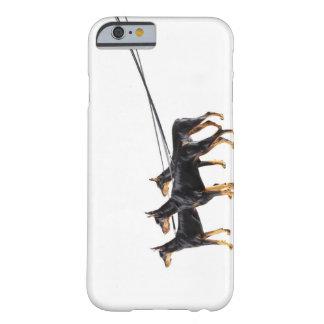 Tre Dobermans på koppel Barely There iPhone 6 Skal