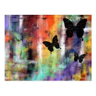 Tre fjärilar vykort