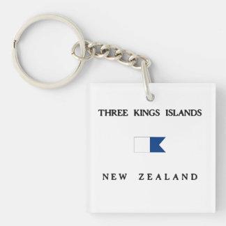 Tre flagga för dyk för alfabetisk för kungöar