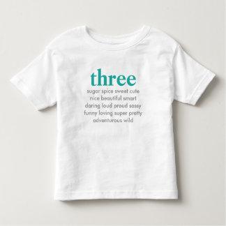 tre födelsedag skjorta t shirt