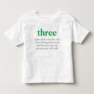 tre födelsedag skjorta tee shirts