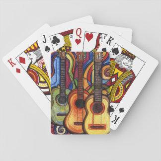 Tre gitarrer kortlek