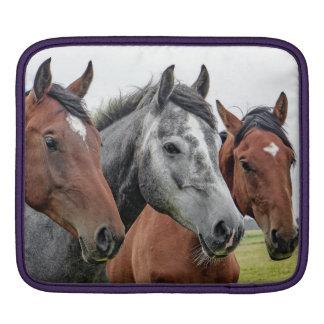 Tre hästar sleeve för iPads