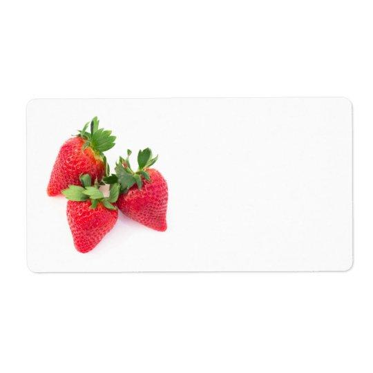 Tre jordgubbar fraktsedel