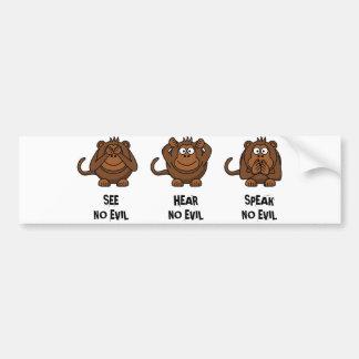 Tre kloka apor bildekal