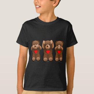 Tre kloka nallar, nalletryck tee shirt