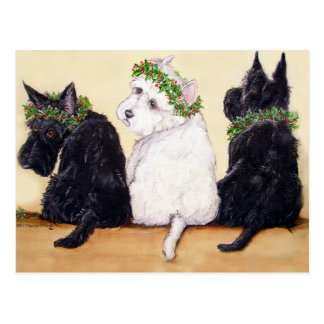 Tre kloka Terriers Vykort