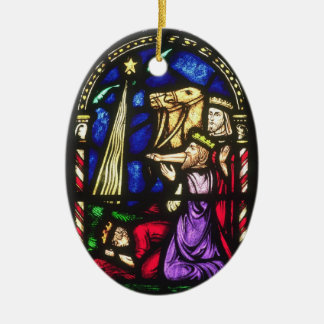 Tre kungar efter stjärnan julgransprydnad keramik