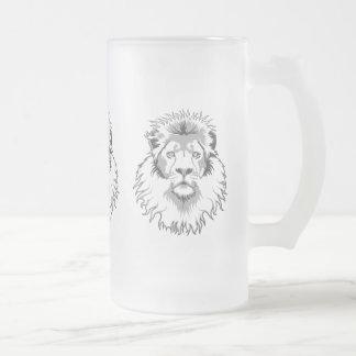 Tre lejon frostat ölglas
