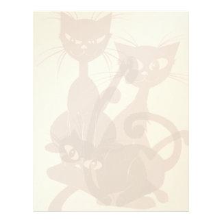 Tre letterhead_vertical svarta katter brevhuvud