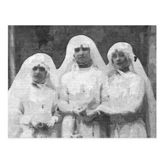 Tre nunnor vykort