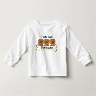 Tre Pekingese Tee Shirts